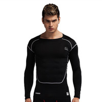 Wholesale health training - New PRO men's sports tights long-sleeved stretch quick-drying body health breathable perspiration coach training clothes