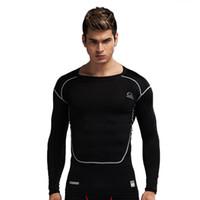 ingrosso collant corporeo uomo-Nuovi pantaloni sportivi da uomo PRO a maniche lunghe, asciugatura rapida, corpo traspirante e traspirante