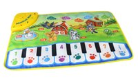 Wholesale Musical Play Mats - 60 cm Music Mat Dance Carpet Toddler Baby Play Mat Piano Animal Sound Piano Music Electronic toys mat for kids