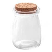 Wholesale Glass Message Bottles - Wholesale- 1pc Lovely Cylinder Small Bottle Tiny Clear Empty Wishing Glass Message Vial With Cork Stopper mini Containers 57*57*74mm 120530