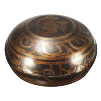 Wholesale Vintage Opening Ornament - Decoration big Metal Vintage 7.5cm Vintage Gilt Copper Buddha Sound Bowl Alms Bowl Yoga Chinese Tibetan Meditation Singing Bowl With Hand St