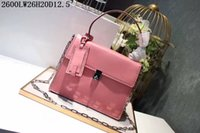 Wholesale small hasp lock for sale - Europe American leather Cross body Women top end business casual shoulder bags with boxes sincere honesty fair sale
