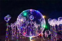 Usine vente en gros 18 '' LED String Lights Flasher Ballon d'éclairage Enfants Enfants Wave Ball Light Up Jouets Noël Décorations de fête de mariage