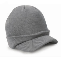 Wholesale Cadet Hats Wholesalers - Wholesale-Esco Peaked Army Beanie Hat Warm Wooly Winter Mens Ladies Cadet Ski Cap