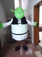 Wholesale Shrek Mascot Costumes - New Monster Shrek Mascot Costume Fancy Birthday Party Dress Halloween Carnivals Costumes With High Quality Free Shipping