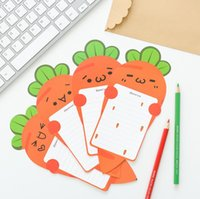 Wholesale Stationery Gift Pack - 6 pcs pack Harvest Story Carrot Letter Paper with Simple Envelope Letter Pad Gift Stationery School Office Supply