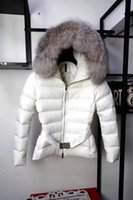 Wholesale Ladies Feather Down Jackets - MW02 Luxury Brand Jackets for women Duck down coats Real raccoon fur trim hood Winter Ladies Parka