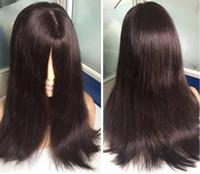 ingrosso capelli ebrei-8A Grado Capelli Umani Colore Marrone Scuro # 2 I Migliori Sheepel 4x4 Top Parrucche Ebree Parrucche Ebree Europee Capelli Vergini Finali
