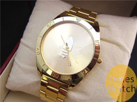 Wholesale Dresses Clover - High Quality Famous Brand Fashion Gold Watch New Arrival Ad Clover LOGO Quartz Sports Relojes Ladies Mens Dress Gold Wrist Watches