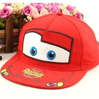 Wholesale Cute Table Tennis - Wholesale- 2016 Fashion Kids cartoon cap snapback,flat side of the child's baseball cap, embroidered hats child car, cute car cap casquette