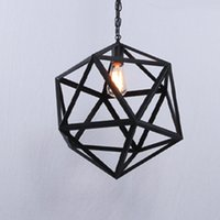 Wholesale Industrial Cage Edison Lighting - Industrial Edison Hanging Pendant Light lights lamps Pendant 1 Light Large Size Art Deco Cage Lamp Guard Metal