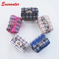 Wholesale Mini Bags Childrens - Encounter Newest Messenger bags for Childrens Toddlers Tweed Shoulder Bags girls small purse for shopping Baby Kids Mini Wallets bag EN048