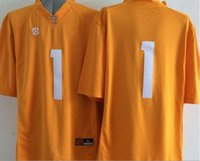 Factory Outlet- Logotipo cosido 2015 New Style Tennessee Volunteers # 1 Jalen Hurd Jersey American College Football Jerseys Envío gratis