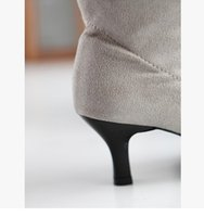 ingrosso scarpa coscia pura-pelle di vernice wholealer nuovo stile commercio estero scamosciata delle coscie pura edizione pigmentato adatto tacco basso donne boot 364