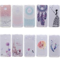 Wholesale Decorations For Mobile Phone Case - Transparent TPU Cover For Xiaomi Redmi 3S Case Colour decoration Tower bike Butterfly Girl Feather Design Mobile Phone Case
