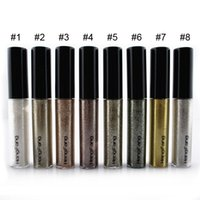 Wholesale Blue Color Eyeliner - 8 Colors Shining Bronzer Gold Eye Shadow Liquid Eyeliner Shimmer Glitter Shining Makeup maquiagem Eyeshadow Wholesale 2801037