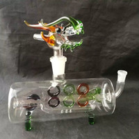 Wholesale Faucets Accessories - Horizontal pipe faucet glass bongs accessories , Glass Smoking Pipes colorful mini multi-colors Hand Pipes Best Spoon glass Pipes