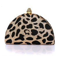 Wholesale velvet banquet - Wholesale- New Style Leopard Women Clutch Bag Banquet Package Delicate Evening Bags Female Velvet Luxurious Small Women Bags