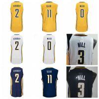 Wholesale Cj Blue - Mens 3 George Hill Jersey 50 Tyler Hansbrough Basketball Shirt 0 C.J. CJ Miles 11 Monta Ellis 2 Rodney Stuckey Yellow Navy Blue White