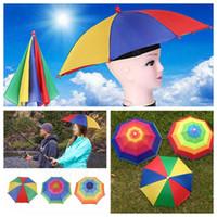 Wholesale Foldable Camping Hat - Adult Children Outdoor Foldable Sun Umbrella Hat Golf Fishing Camping Shade Beach Headwear Cap Head Hats YYA251