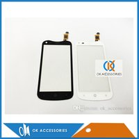 Wholesale Acer Screen Repair - Black White Color Phone Assembly Repair Part Touch Panel Glass Touch Screen Digitizer For Acer E2 V370 1PC Lot