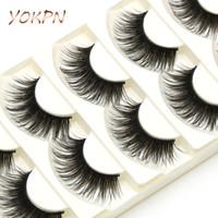 Wholesale Show Strip - YOKPN Exaggerated Fake Eyelashes Brown Black Crisscross Messy Thick False Eyelashes Show Latin Makeup Eye Lashes
