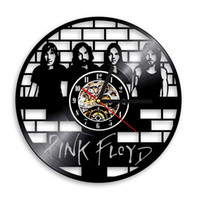 Wholesale Decorative Art Wall Clock - Pink Floyd CD Vinyl Record 3D Wall Clock Muisc Group Art Unique Vintage Decorative Clock 12