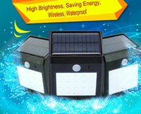 Wholesale Solar Chips Wholesale - Factory sell energy saving solar lighting Motion Sensor Mini wireless outdoor wall lamps 8leds 12leds 16leds 20leds chip High brightness