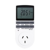 BR / US / EU / AU Plug Smart Timer Switch de 12/24 heures LCD Digital Electronic Plug-in Programmable Timer Switch Socket