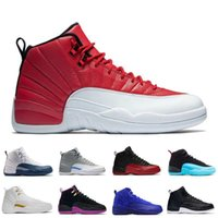 2017 air retro 12 XII Basketball Shoes homme The Master Gym Red Taxi Playoffs gamma french blue sneaker sports haute qualité US 8-13