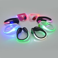 Wholesale Colored Bikes Wholesale - LED Luminous Shoe Clip Night Light Running Sports New Cycling Safety Warning LED Bright Flash Light For Running Cycling Bike Christmas JF
