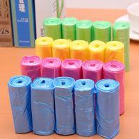 plastic trash bin venda por atacado-150 pçs / lote Boa Qulity Sacos De Lixo Colorido, 6 Cores de Armazenamento Saco De Lixo, Cesta De Lixo De Plástico Bin Lixo Titular, Balde De Cozinha saco