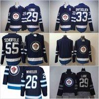 Wholesale Winnipeg Jersey - 2018 Winnipeg Jets Hockey Jersey 55 Mark Scheifele 29 Patrik Laine 26 Blake Wheeler 33 Dustin Byfuglien Blank Blue Hockey Jersey