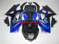 Wholesale Suzuki Gsxr Aftermarket Fairing Kit - Aftermarket body parts fairing kit for Suzuki injection mold GSXR100 2005 2006 blue black fairings set GSXR 1000 05 06 YU79