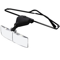 Wholesale Watch Repair Magnifier Glasses - Wholesale- The Best Quality 1.5x 2.5x 3.5x Supporting Spectacles Glasses LED Lamp Magnifier Magnifying Loupe Watch Repair Tool