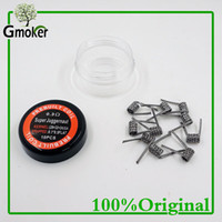 Großhandels- 10pcs / set Superjuggernaut flacher Draht VS Fused clapton Spulen Hive Wrap Drähte Alien Mix Twisted Quad Tiger Heizwiderstand