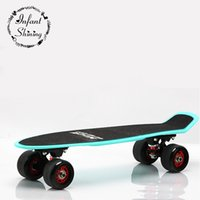Wholesale longboard fish - Wholesale- Outdoor Professional Longboard Skateboard Fish Skateboard for Adult or Children Flash Wheels