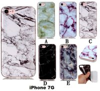 Wholesale Rock Design Cases - iphone 7 Retro Marble Patten case granite Stripe Rock stone design image Painted cases TPU cover for iphone7 plus iphone 6 6S PLUS