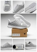 Wholesale Knit Fabrics Cheap - (original box) Wholesale Cheap Tubular Shadow Knit Running Shoes for men and women Tubular Shadow 3D 350 Sneaker sports Shoes Boosts 5-10