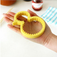 Wholesale Little Duck Yellow - Little Yellow Duck Shape Cans Opener Creative Non-slip Silicone Capping Universal Opener Kitchen Accessories Bottle Opener