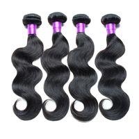 Wholesale Cheap Good Remy Hair - Brazilian Body Wave Hair Weaves Grade 6A Good Cheap Human Hair Bundles 100% Unprocessed Virgin Hair Extensions Natural Black