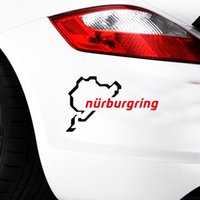 Wholesale Vinyl Sticker Drop Ship - 2017 Hot Sale Cool graphics Green Nurburgring Body Car Styling Vinyl Decal Stickers Drop Shipping Car Accessories