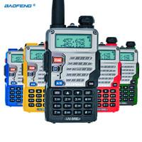 Wholesale Dual Walkie - Baofeng UV-5RE Walkie Talkie Dual Band CB Radio baofeng UV5R Updated version 5W 128CH UHF&VHF portable radio