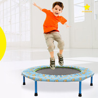 Wholesale Trampoline Jumping - 36 Inch Big Size Trampoline Toy for Kids Jumping Mat for Children With Holder Height Adjustable Safe Elastic Exercise Toy