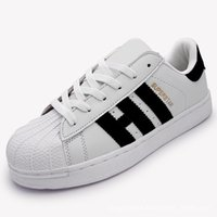 Wholesale Men S Shoes Red - Men 's Shoes For Women' s Shoes White Shoe Laser Dazzle see Superstar Shell Head Sneakers