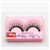 Wholesale full thick - 100% Supernatural Lifelike handmade false eyelash 3D strip mink lashes thick fake faux eyelashes Makeup beauty