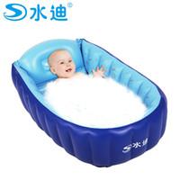Wholesale Inflatable Baby Swimming Pool Tub - Wholesale- Small Inflatable Pool tub Portable Baby folding eco-friendly PVC Swimming Pool children bathtub 90X55X25cm