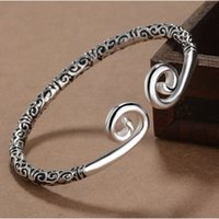 Wholesale Top Handmade Bracelets For Women - 2017 Handmade Top Quality Pagan Viking Gold Hoop Bracelets Bangles for Man and Women Cuff Bangle Gifts
