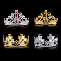Mode Cosplay Crown King Headwear Reine Grommet Royal Crown Avec Décoration Diamant Halloween Party Supplies ZA1878