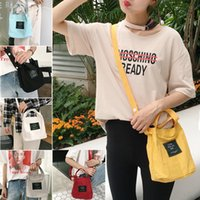 Wholesale Long Strap Shoulder Tote Bags - Women Cute sweet lady printing Shoulder Bags canvas Small Female Crossbody Bag Long Shoulder Strap Messager Bags Ladies Handbags